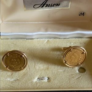 VTG Anson  1892 Indian head penny cuff links